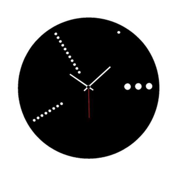 orologio da parete nero in plexiglas