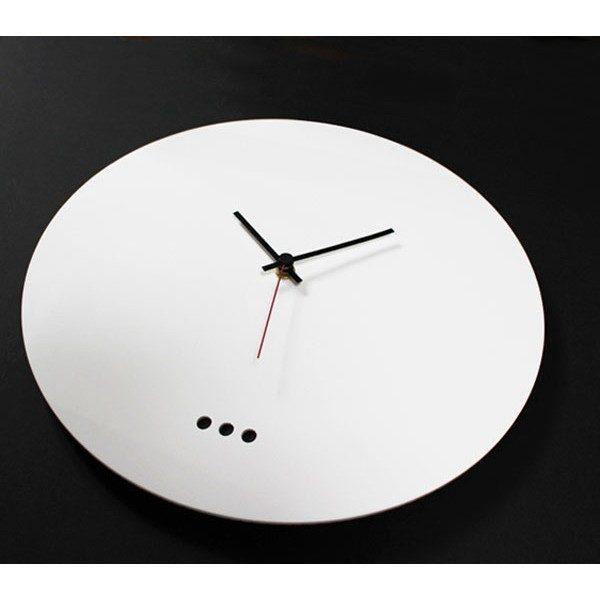 Orologio essenziale bianco in plexiglass