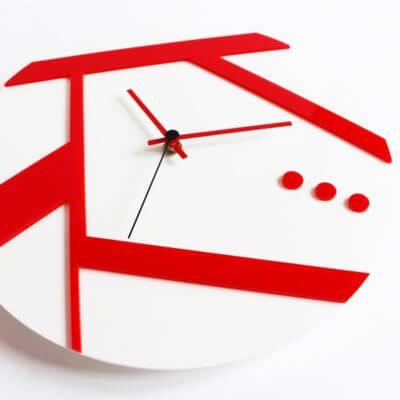 Orologio da muro rosso