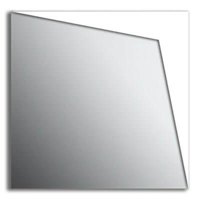 Specchio da parete in plexiglas con lati bianchi
