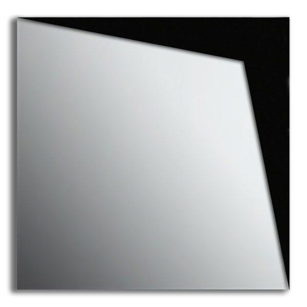 Specchio da parete in plexiglas con dettaglio nero