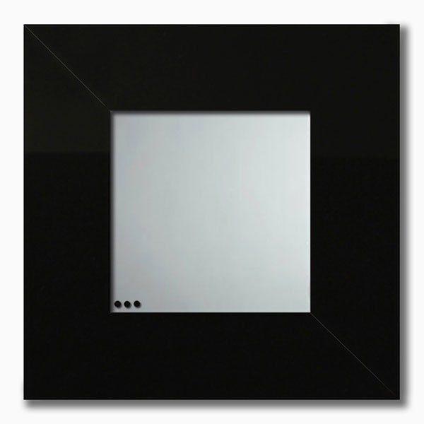 Specchio da parete in plexiglas con cornice nera
