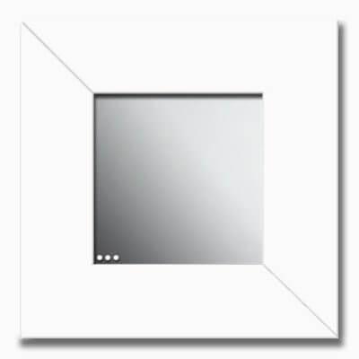 Specchio da parete in plexiglas con bordo bianco
