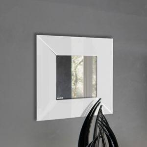 Specchio da parete in plexiglas bianco