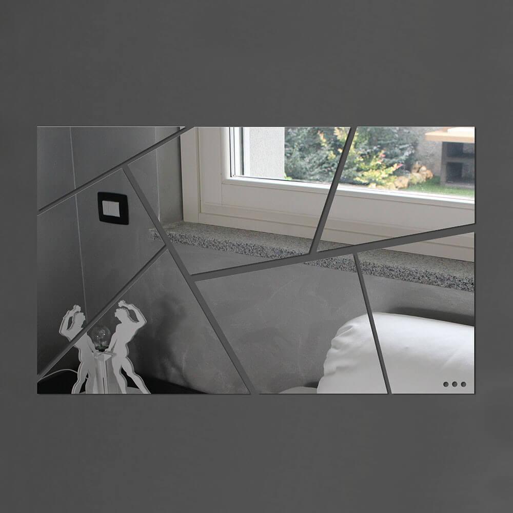 Specchio da parete mosaico plexiartglass - Specchi adesivi da parete ...