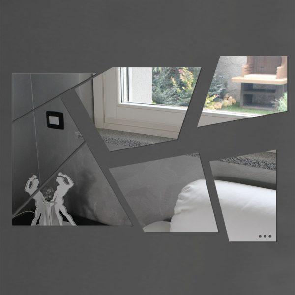 Specchio da parete in plexiglas moderno