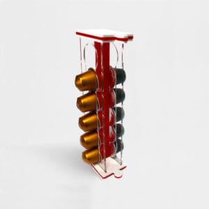 porta capsule salva spazio rosso