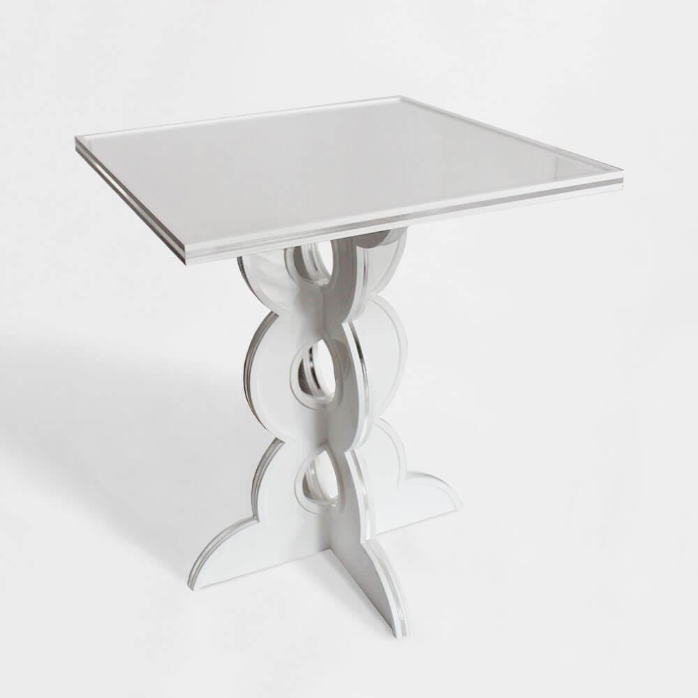 Comodino in Plexiglass di Design modello Fori - Plexiartglass