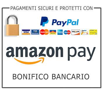 pagamenti sicuri con paypal amazon pay e bonifico