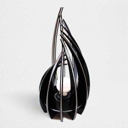 lampada da tavolo di design moderno in plexiglas nero